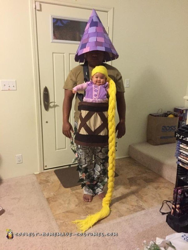 Rapunzel and her Castle baby Carrier custome