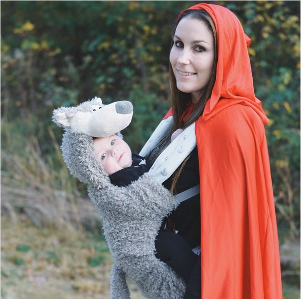 Little red riding hood baby carrier costume