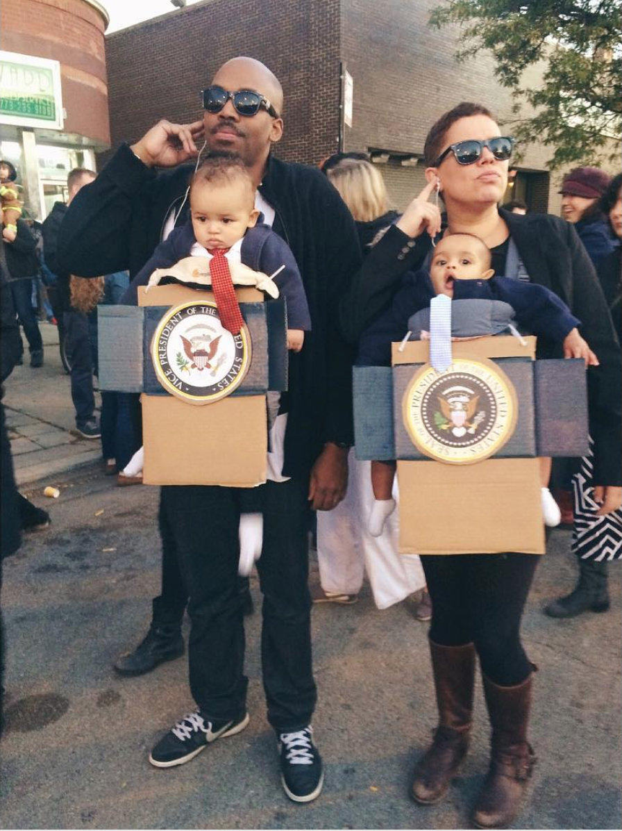 Presidential babies baby carrier costume