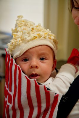 Pop corn baby carrier costume