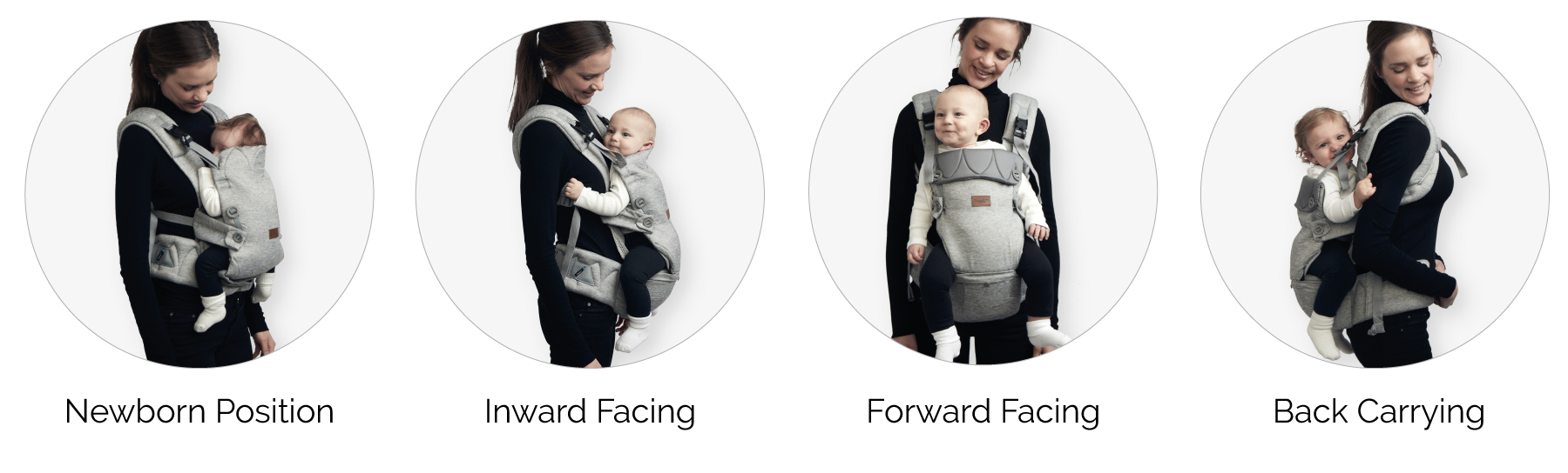 Najell Original baby carrier - Carrying positions