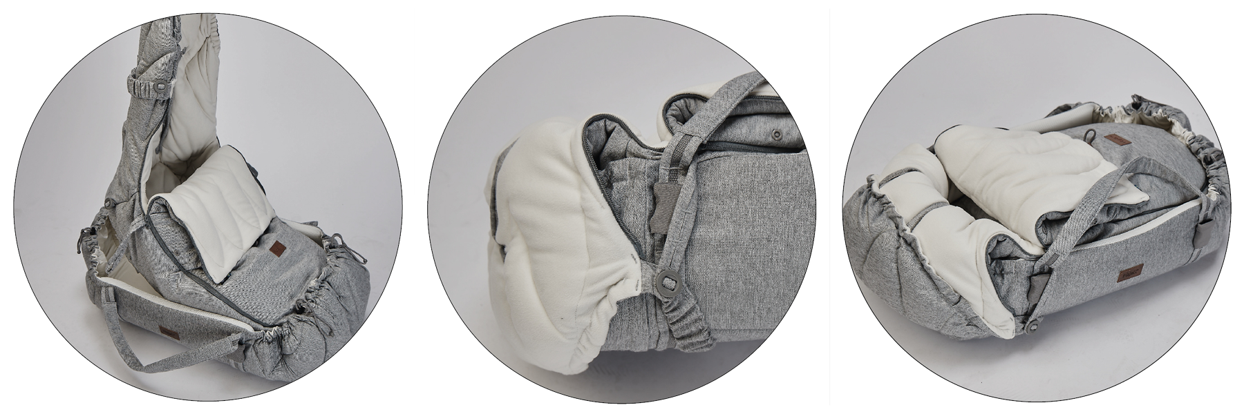 Use the SleepCarrier together with footmuff Winter Cover