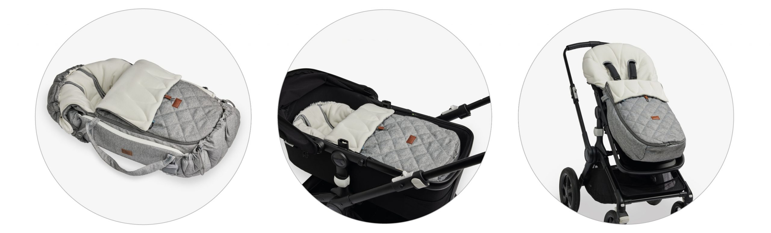 Footmuff WinterCover Grey Pram