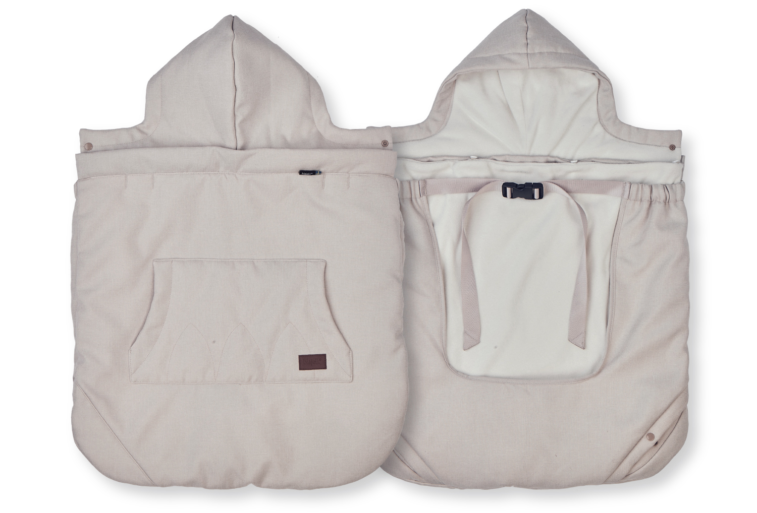 Najell All Weather Cover - Sandy Beige front and back