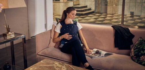 Najell wrap navy blue baby carrier