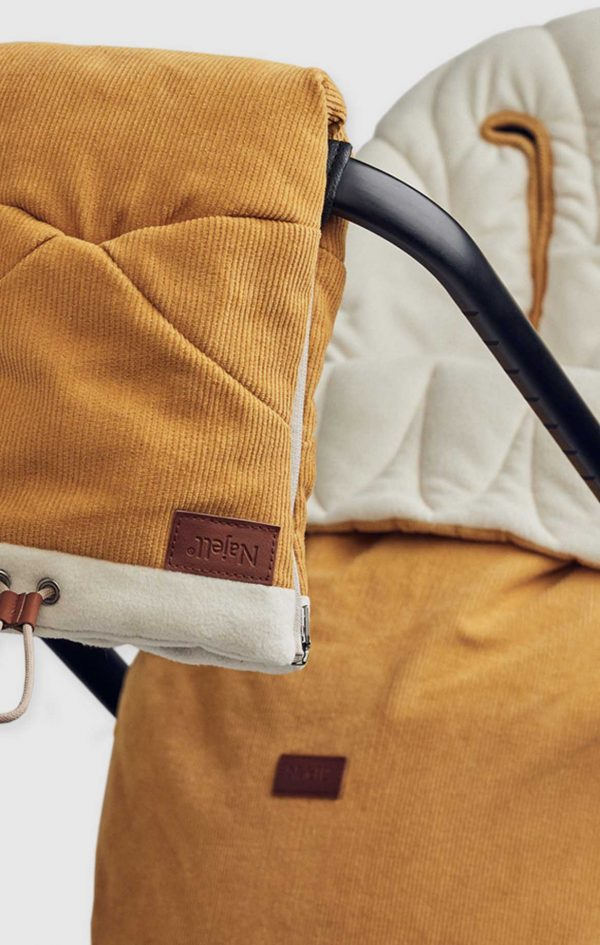 najell footmuff with stroller gloves dijon yellow