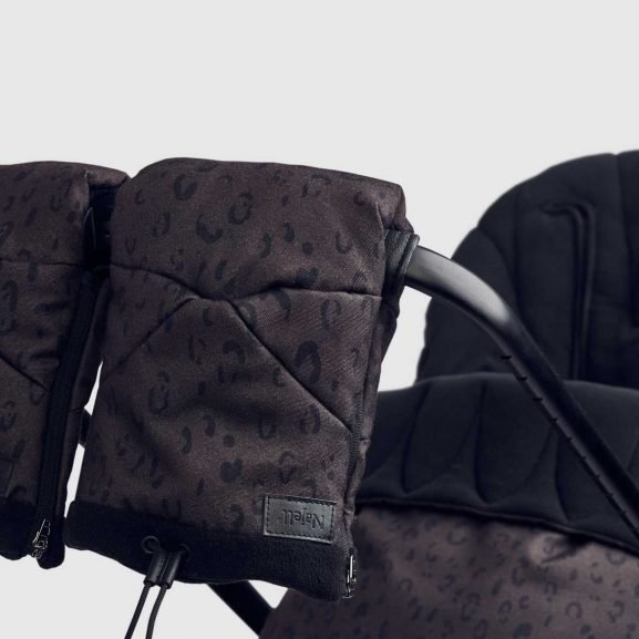 najell footmuff and stroller gloves leopard brown